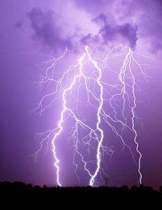 Ozone is produced naturally during lightning storms.